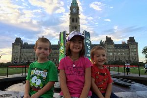 Isla, Jenson and Linc at Parliament Hill.