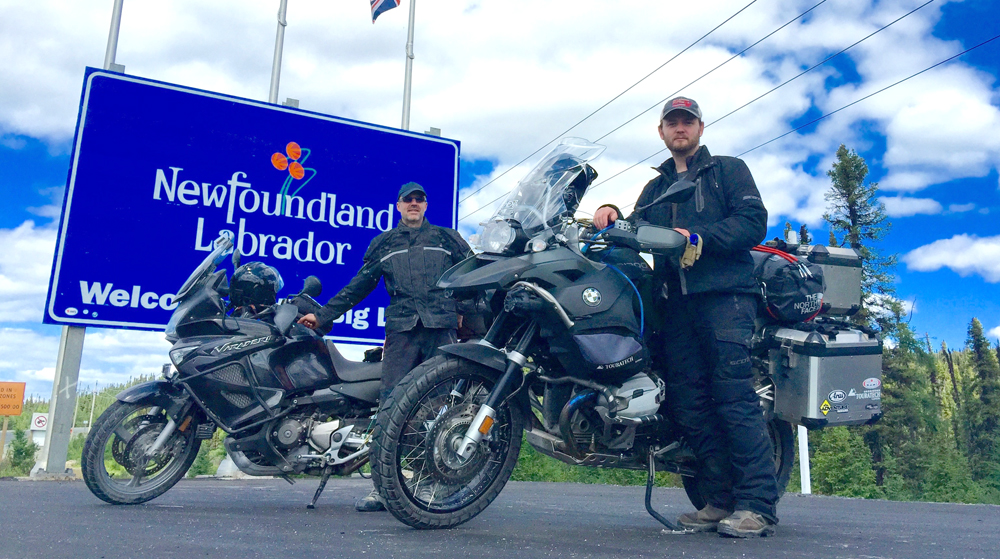 Doug and I as we arrived through Quebec into Labrador City. Quite the adventure we had.
