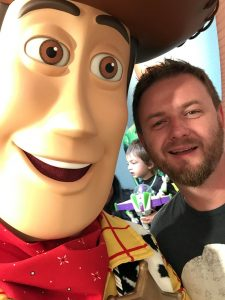 Woody taking a selfie with Luke.